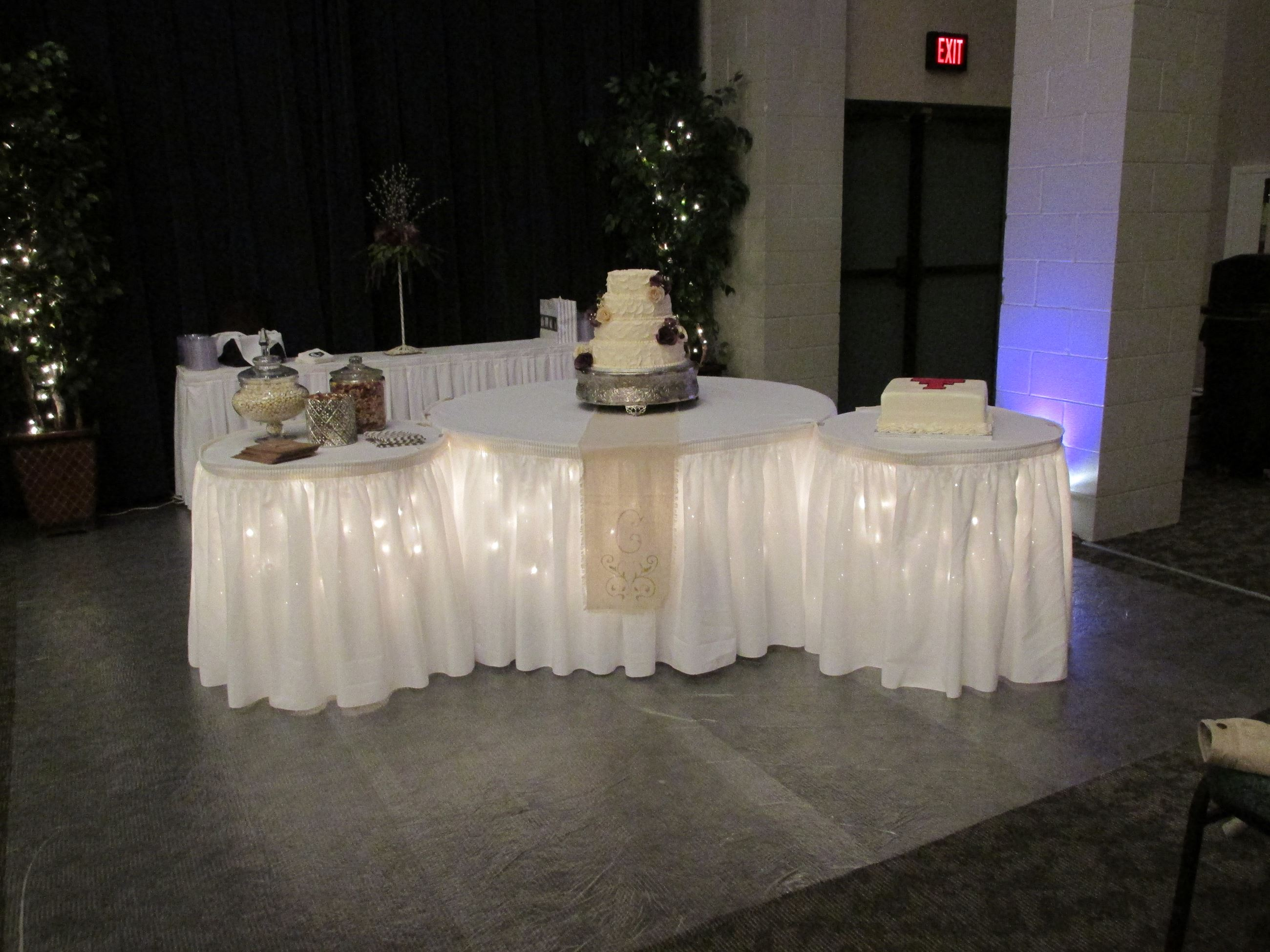 Lighted Cake Table