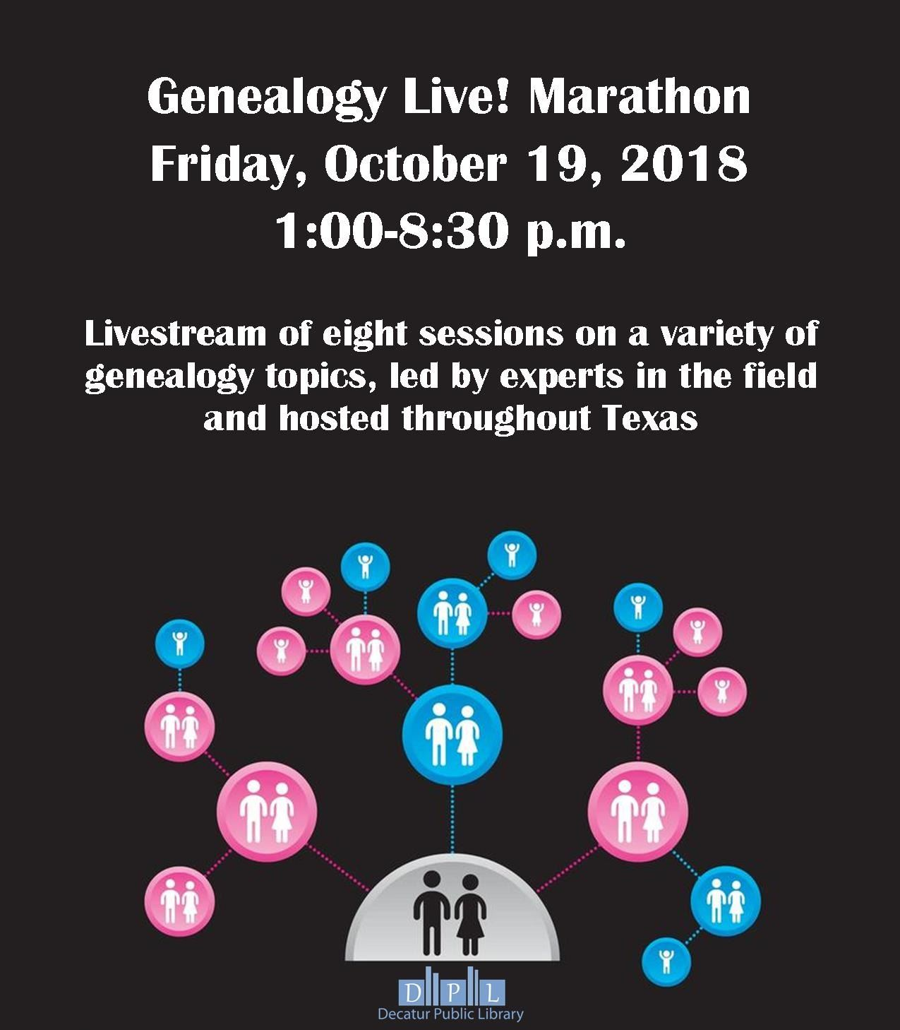 genealogy marathon flyer